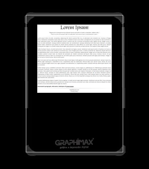 Impressão PB A4 - Papel Offset