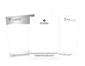 Bloco de Anotação / Receituário - PB 1 via Papel Offset 90g 14,8x21 cm 1x0 cor (preto e branco)  Colado 50x1 via e Corte reto