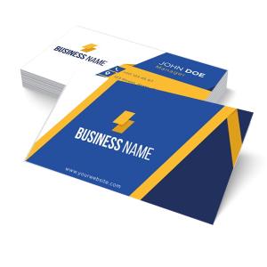 Cartão de Visita - Impressão Digital - Papéis Especiais Papel Colorplus Metálicos 250g ou Markatto 240g 9x5cm 4x0 (só frente); 4x4 (frente e verso)  Corte Reto