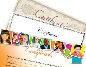 Certificado A4 Couché fosco 300g ou Papel Offset 240g 21x29,7 cm 4x0 cores (só frente)  Corte Reto
