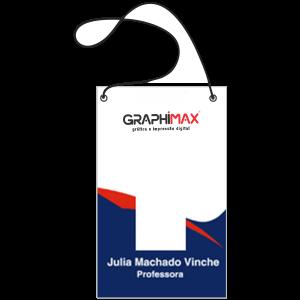 Crachás / Credenciais Papel Supremo 250g 10x15 cm 4x0 cores (Frente)  Corte Reto, 2 Furos e Cordão Branco