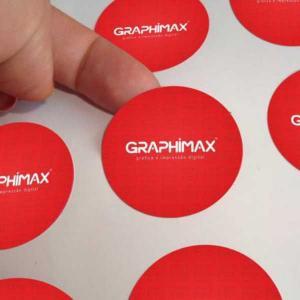 Etiquetas de Papel Papel Adesivo Fosco 3x3 cm 4x0 cores Frente  Core redondo