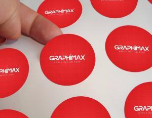 Etiquetas de Papel Papel Adesivo Fosco 3x3 cm 4x0 cores (só frente)  Core redondo