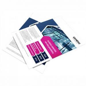 Flyers / Folhetos - 10x15 cm - Impressão Digital Couché fosco 115g 10x15 cm 4x0 Frente / 4x4 Frente e Verso  Corte Reto