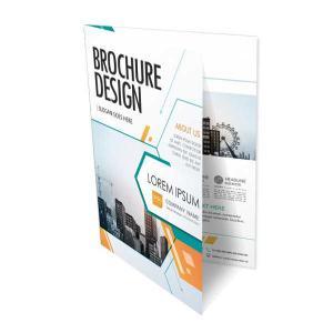 Folder A3 com Dobra Couché fosco 170 42x29,7 cm aberto - 21x29,7 cm fechado 4x4 cores Frente e Verso  Uma Dobra