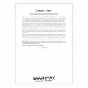 Impressão PB - Adesivo Papel Adesivo fosco 21x29,7 cm (A4); 29,7x42 cm (A3) 1x0 cor (só frente)