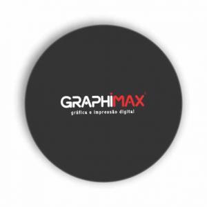 Porta Copos Papel Adesivo Acoplado em Papelão 9x9 cm 4x0 cores Frente  Corte Redondo